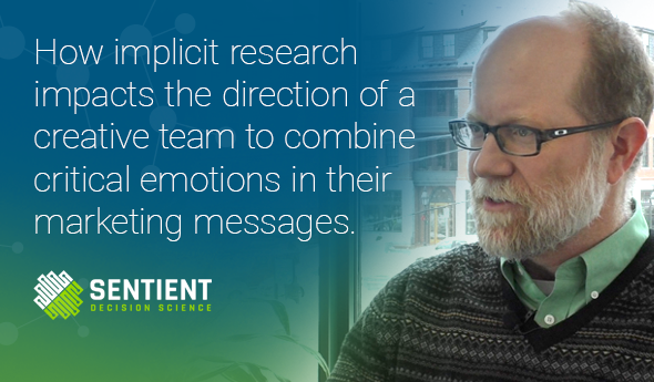 How implicit research impacts the direction of a creative team to combine critical emotions in their marketing messages.