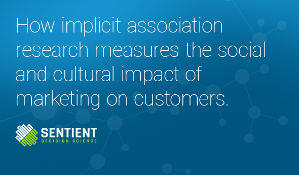 How implicit association research measures the social and cultural impact of marketing on customers.