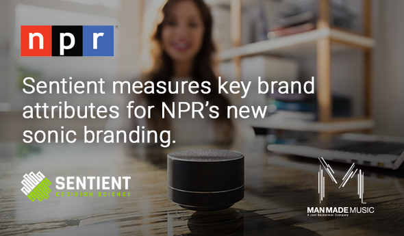 Sentient measures key brand attributes for NPR's new sonic branding.